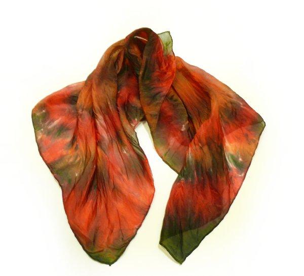 Napařovací barvy - batikovaný šátek I. - (bull eye)